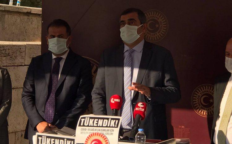 """""""COVID-19'un meslek hastalığı sayılması şarttır!"""""""