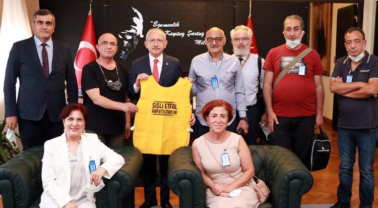 Şişli Etfal Dayanışması Meclisi ziyaret etti, taleplerini anlattı